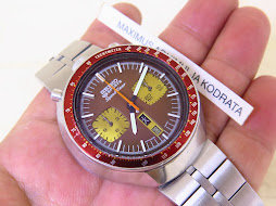 SEIKO CHRONOGRAPH 5 SPORTS SPEEDTIMER BROWN BULLHEAD - AUTOMATIC 6138 - PART B
