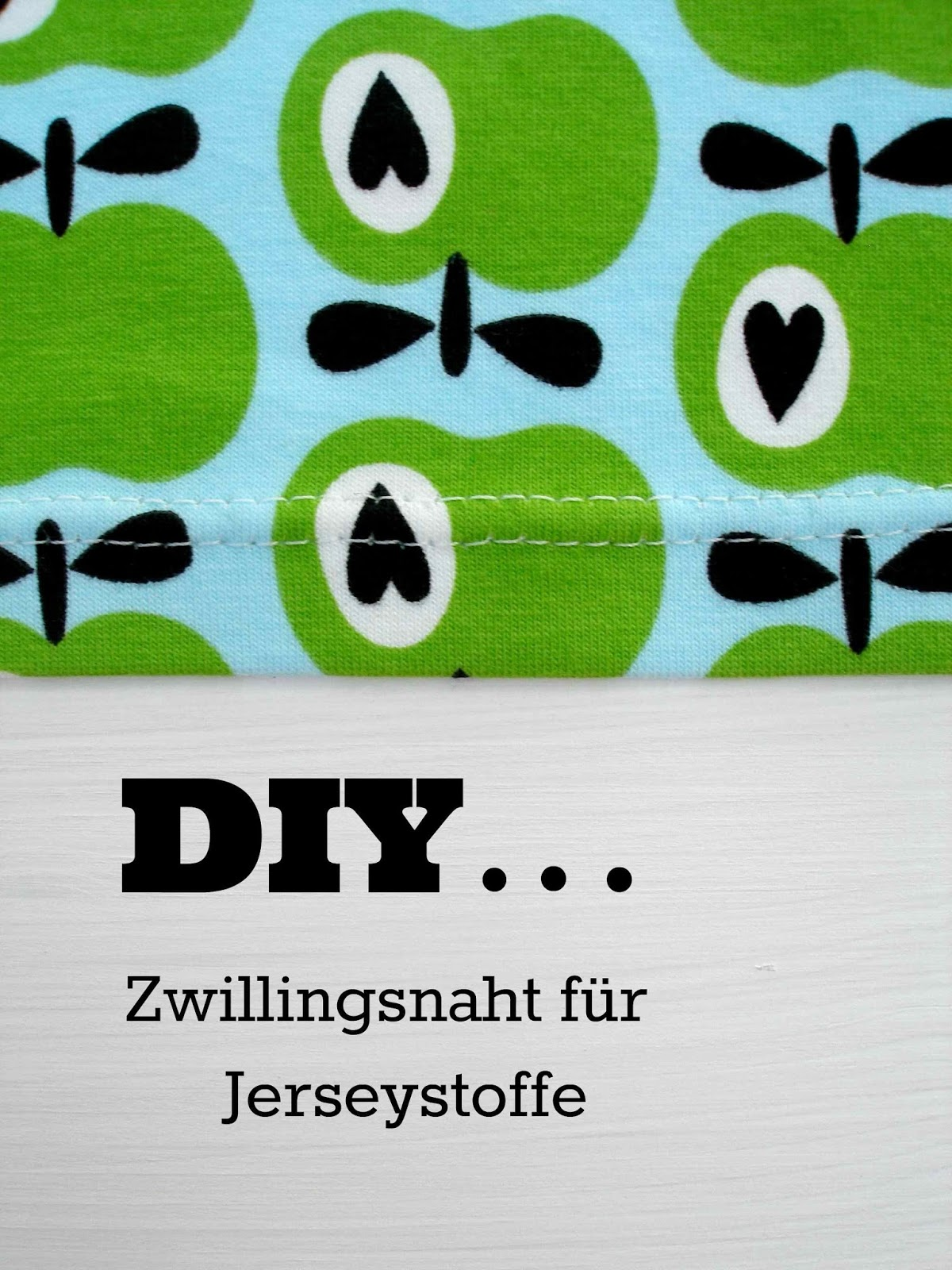 wie mache ich eine zwillingsnaht in jersey. Black Bedroom Furniture Sets. Home Design Ideas