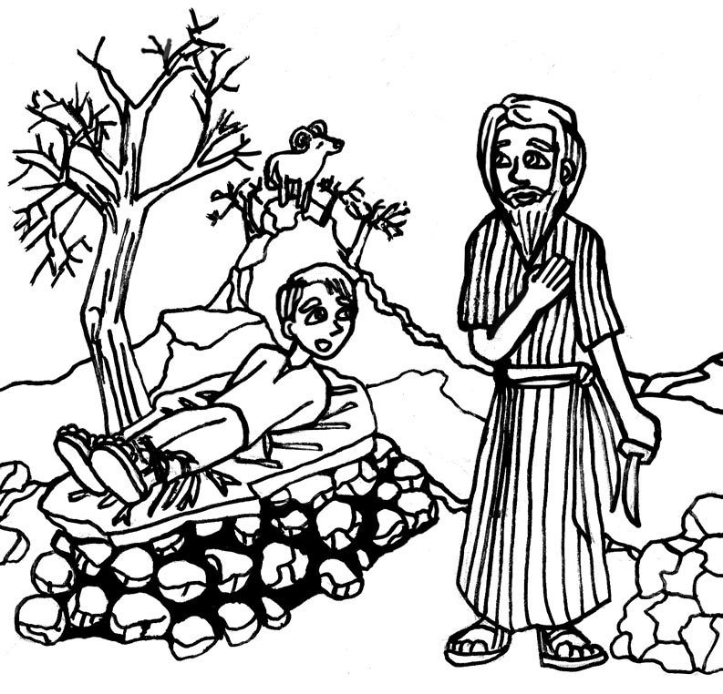 Ldsfiles Clipart Abraham And Isaac Coloring Page