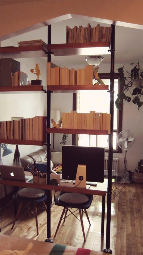 Stolmen Into Mid Century Unitspace Dividerdesk Ikea Hackers