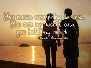 you mean everything to me: