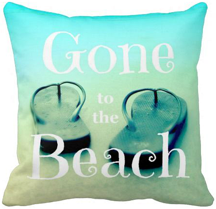 Gone to the Beach Flip Flop Pillow