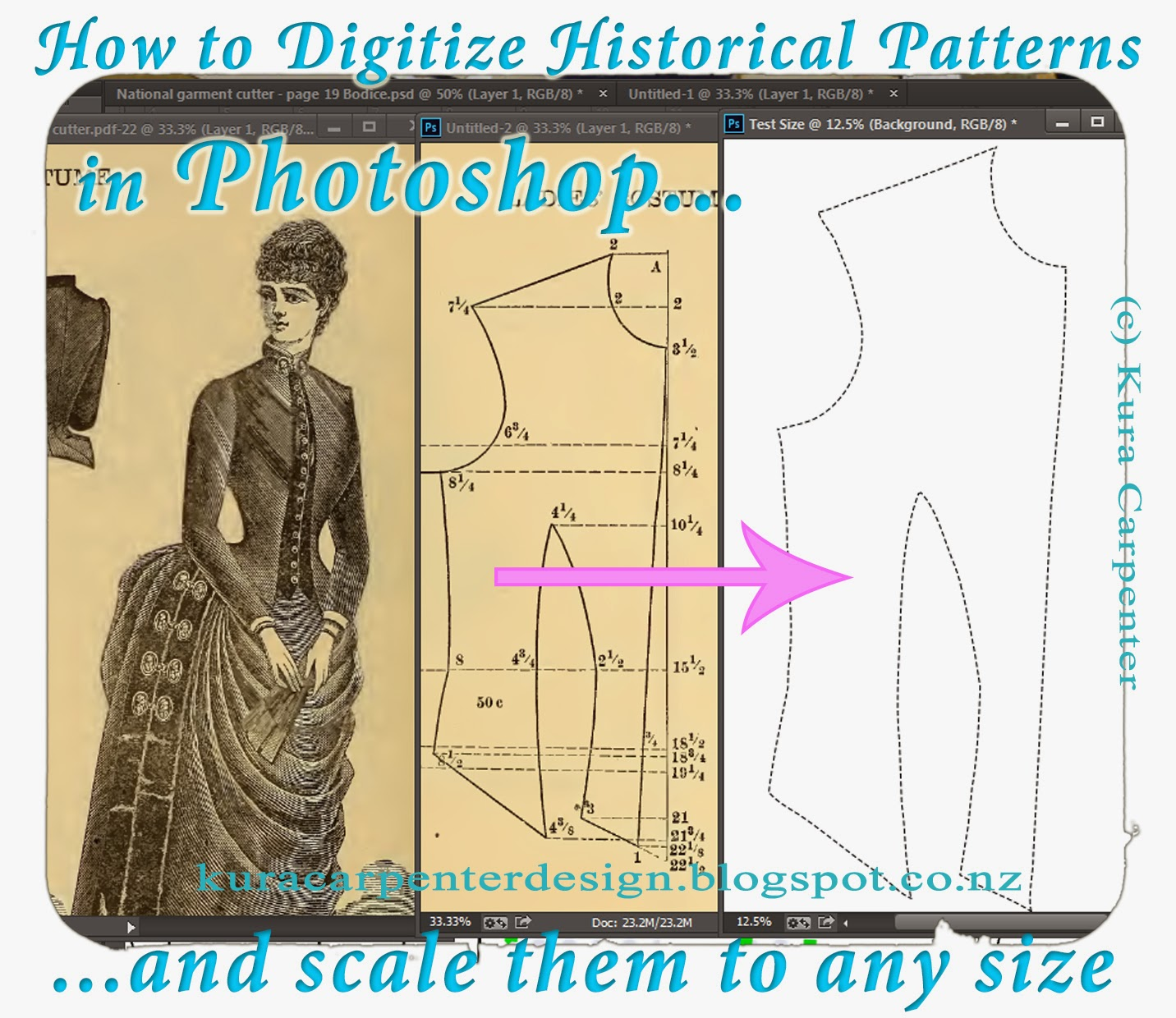 Kura Carpenter - Love Books Blog: Tutorial: How to Digitize Sewing ...