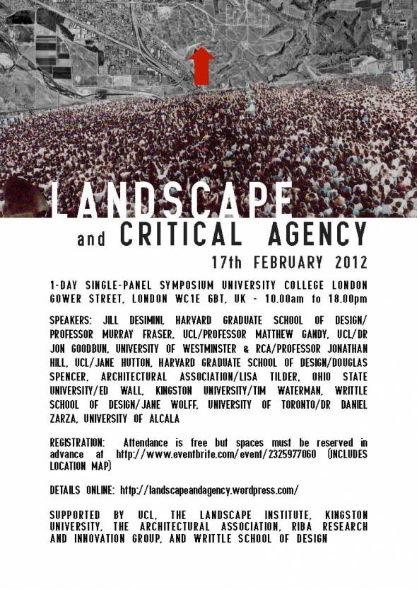 Urban Lab Global Cities (ULGC) Conference Landscape And Critical Agency UCL UK