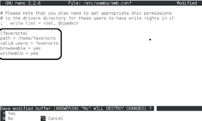 Konfigurasi Samba Server Debian 8 (2)