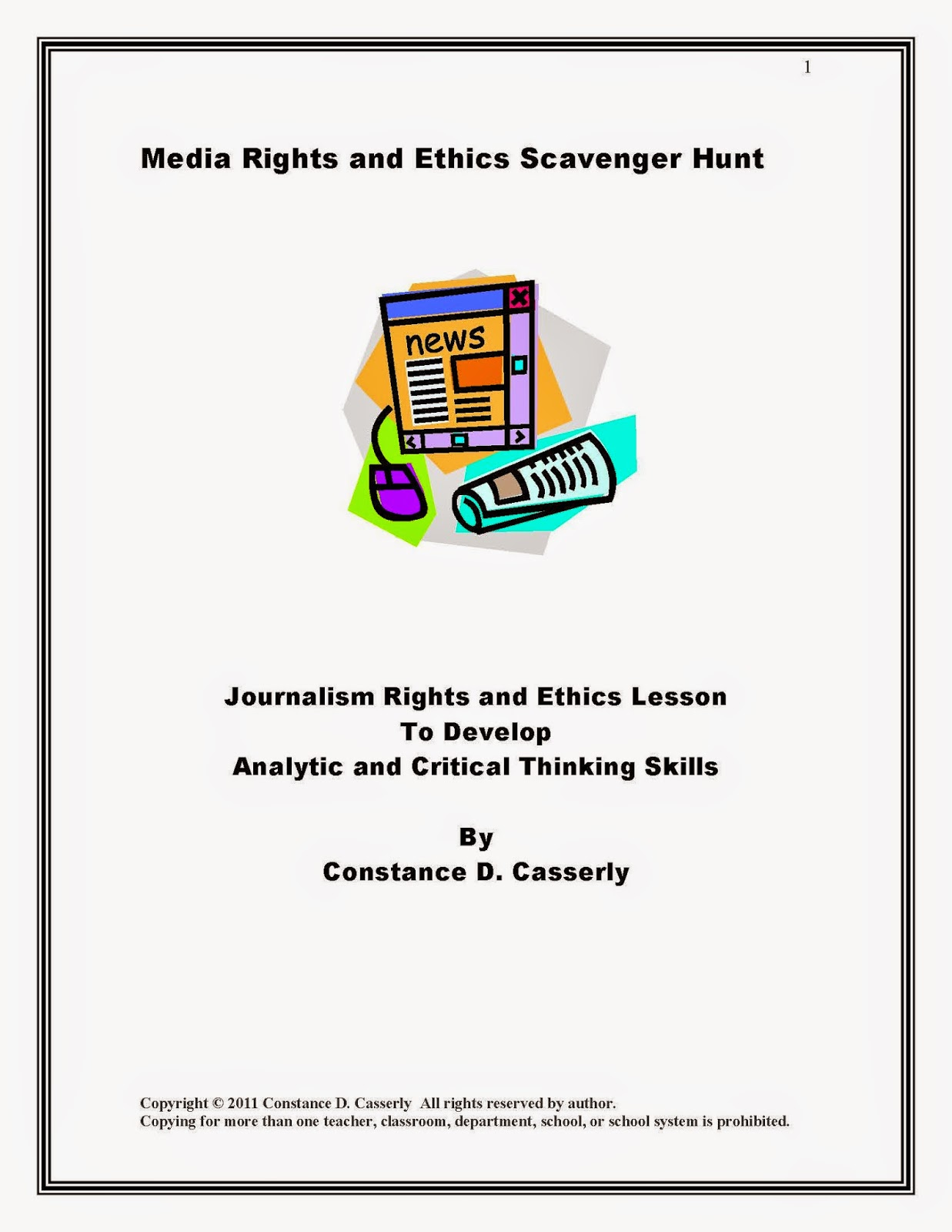 Journalism Rights and Ethics Scavenger Hunt