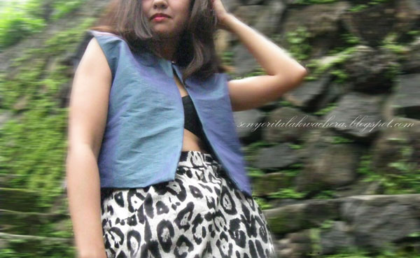 two-toned top with the animal printed skirtanimal printed skirt, Fashion, favorite, My design, My Style, simple, two-toned top