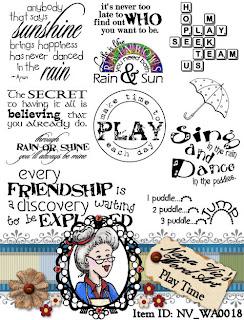 Digital Word Art Sheet Play Time