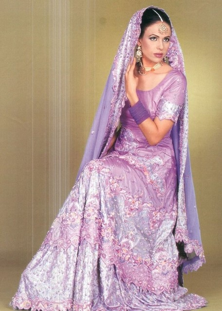 Bridal dresses in plum color
