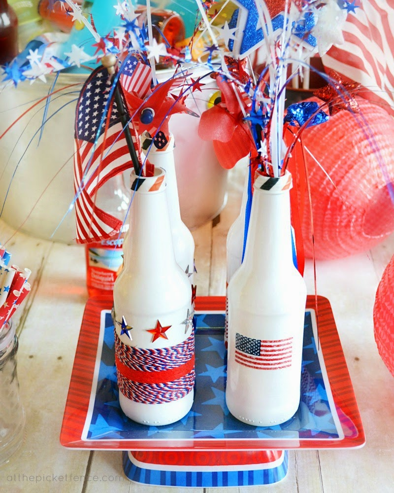 Diy Vintage Chic Stars And Stripes Happy 4th