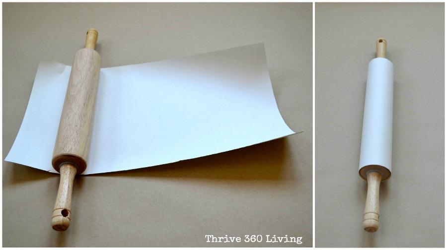 Как сделать скалку из бумаги
