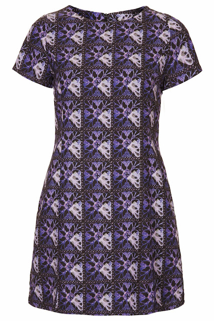 purple topshop dress