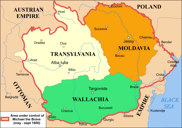 one of the most important things to happen in the years of 1599 and 1600 was the unification of transylvania to two other principalities of wallachia and