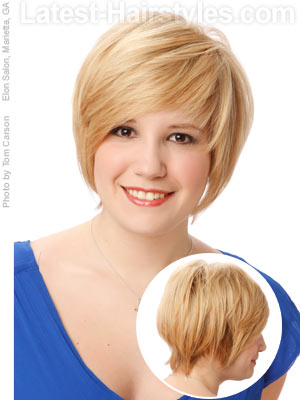 Short Fine Hairstyles Round Face
