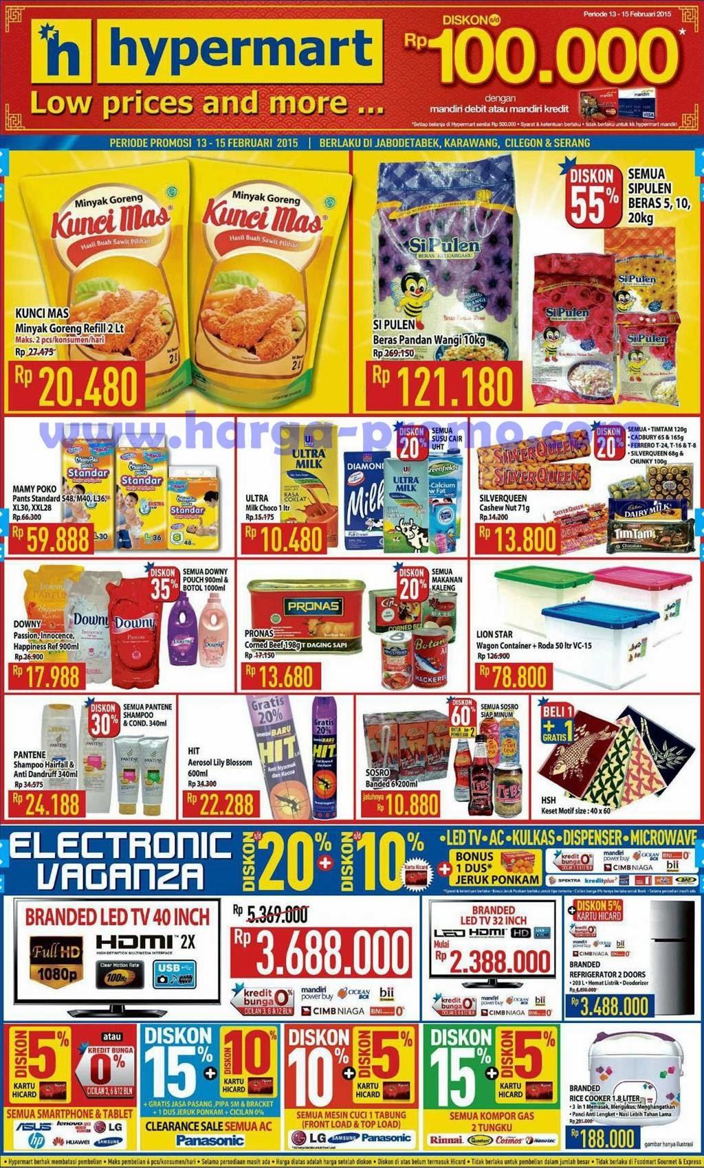 Promosi hypermart akhir pekan terbaru periode 13 - 15 februari 2015