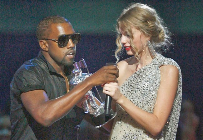 Touchy rapper Kanye West interrupts Taylor Swift's award speech to announce another Phantasm movie