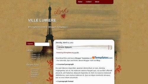 Ville Lumiere - Free Blogger Template