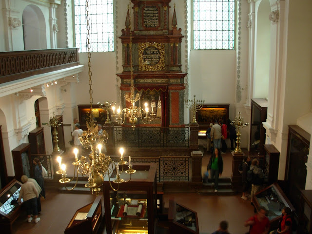 Inside the Klausen Synagogue Museum, Inside the Jewish Quarter, Prague, Czech Republic