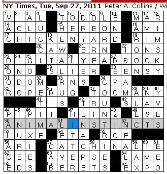 Rex parker does the nyt crossword puzzle creator of gop elephant tuesday september 27 2011 solutioingenieria Choice Image