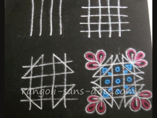 Rangoli designs with dots for beginners simple rangoli beginners 2