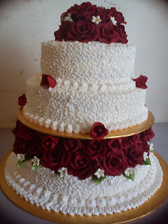 STACKED & TIER WEDDING CAKE
