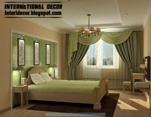 bedroom curtain designs. Contemporary Bedroom Curtain, Green Curtain Scarf Design Designs L