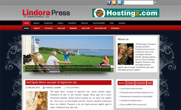 lindora wordpress theme