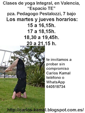 Clases regulares de yoga integral, en valencia
