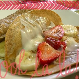 clean eating, whole wheat crepes, breakfast, fruit and yogurt