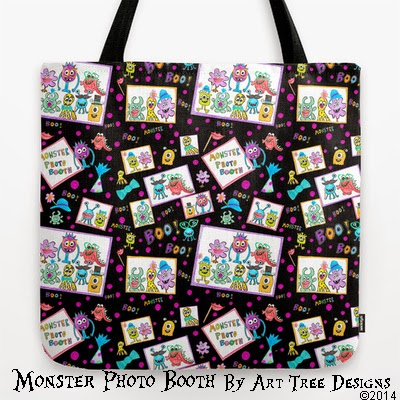 Monster photo booth fabric taramcgowan spoonflower for Monster themed fabric