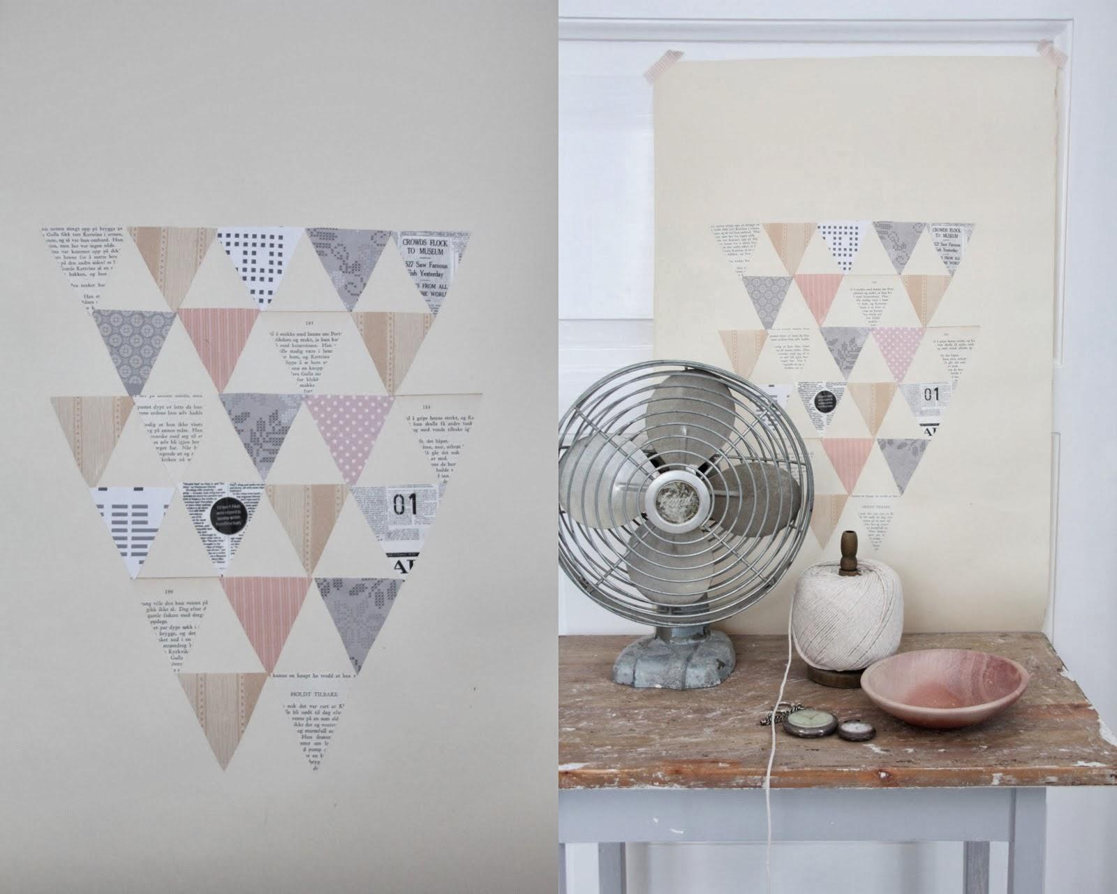 Papier Peint Triangle Couleur - Papier Peint Abstrait Izoa