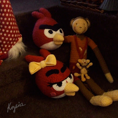 szydełkowe maskotki amigurumi angry birds