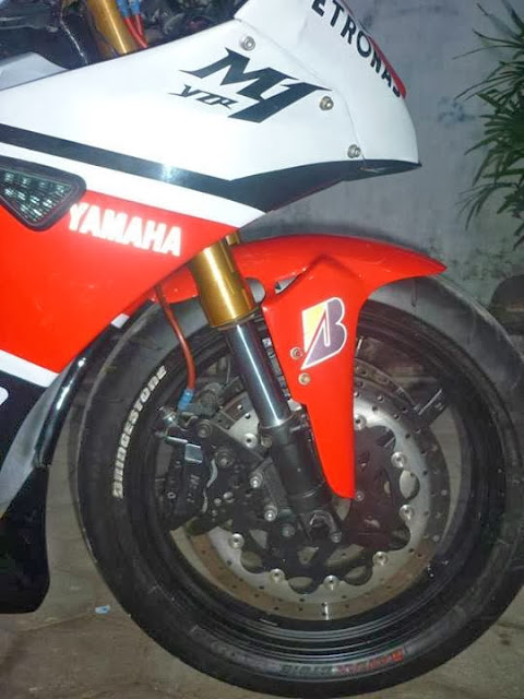 Modifikasi Yamaha Vixion Ala M1 Roda Depan