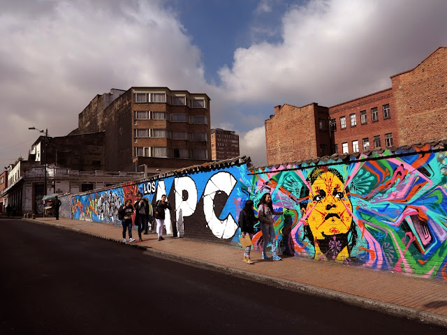 New Street Art Mural by Stinkfish and APC on the streets of Bogota, Colombia. 2