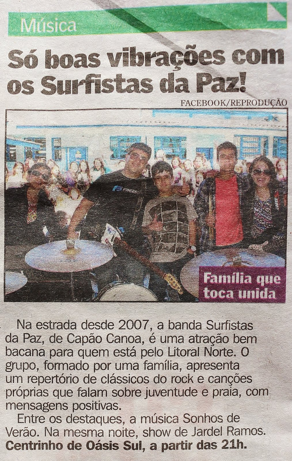 Surfistas da Paz no Jornal Diário Gaúcho