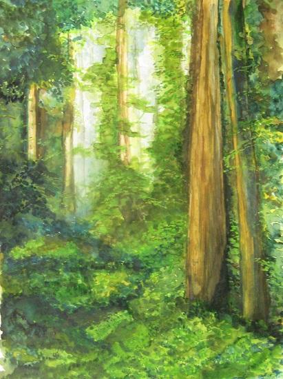 Woods, painting by Girijaa Upadhyay (part of her portfolio on www.indiaart.com)