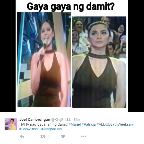 Showtime's Mariel Rodriguez, Eat Bulaga's Patricia Wore The Same Dress At The Same Time!