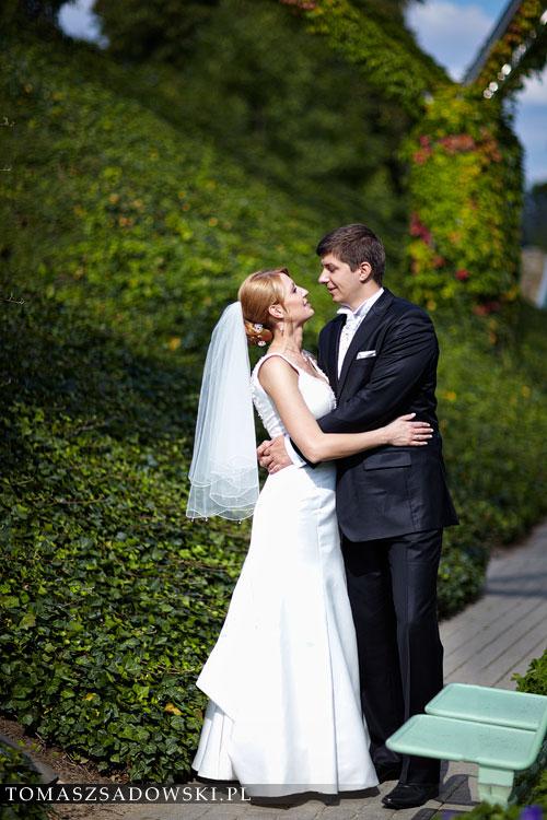 sesja ślubna w ogrodzie BUW