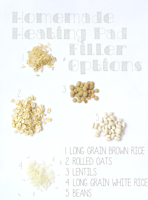 Best Filler Options for a Handmade Heating Pad | It's Always Ruetten