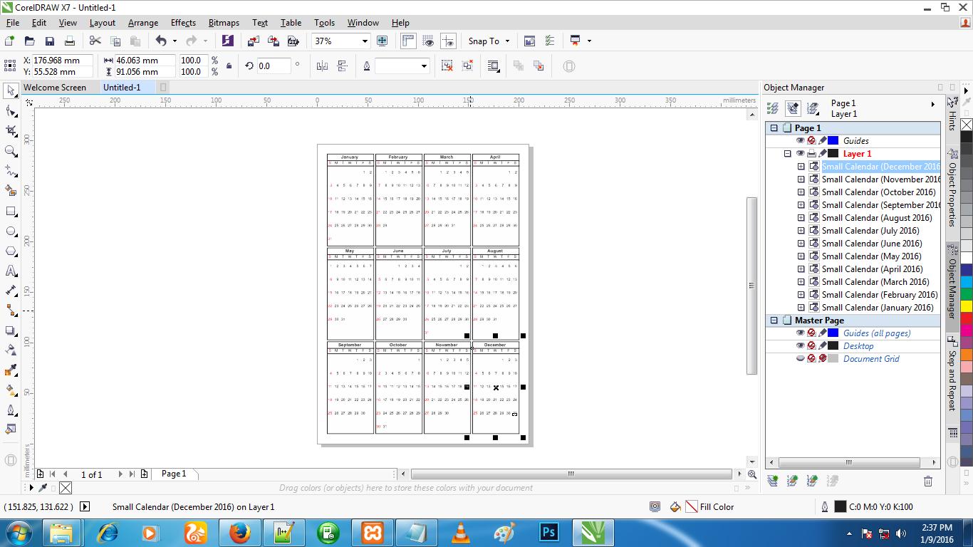 Как в корел сделать календарь на 477