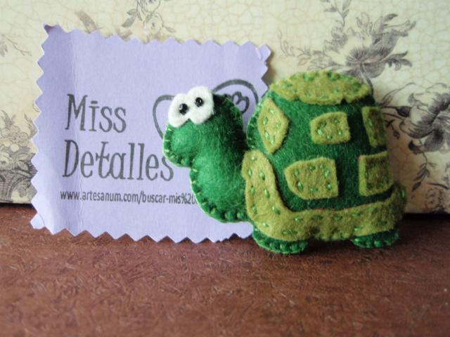 Miss detalles broches de fieltro tortuga - Detalles de fieltro ...