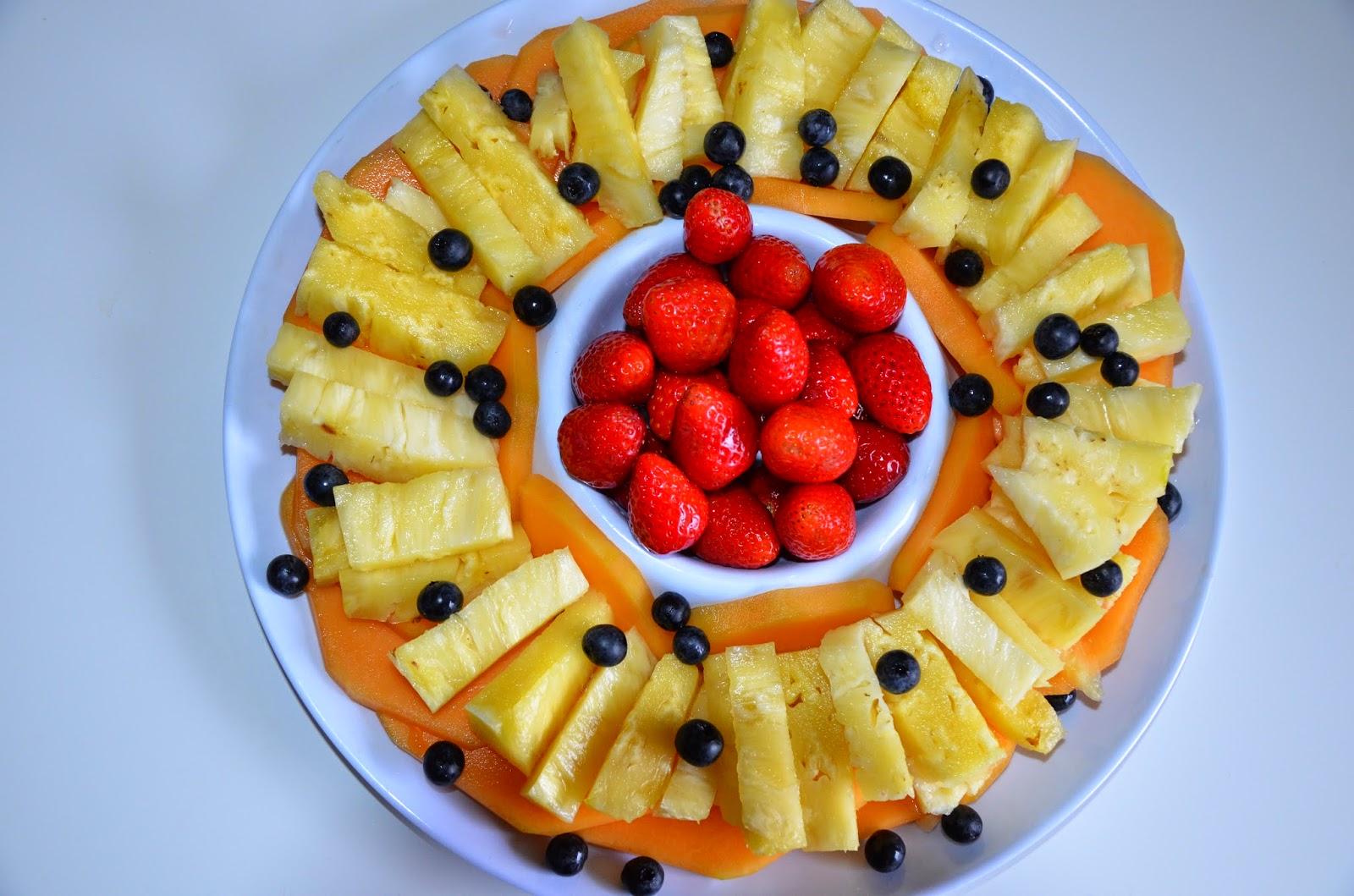 fruit platter for school celebration