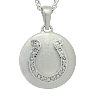 Precious Vessel Diamond Studded Horseshoe Cremation Ash