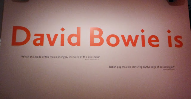 David Bowie Is Exhibit opening sign at the Art Gallery of Ontario, Toronto