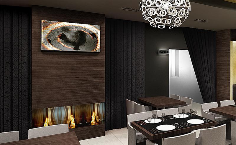 Restaurant View 03. The Golden Club Restaurant & Dance design by Somerset Harris