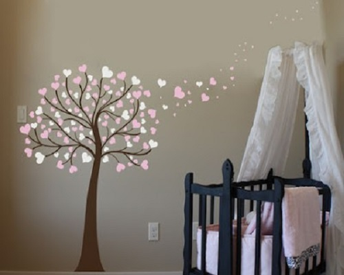 decoration murale chambre bebe
