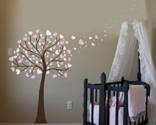 decoration chambre fille mur