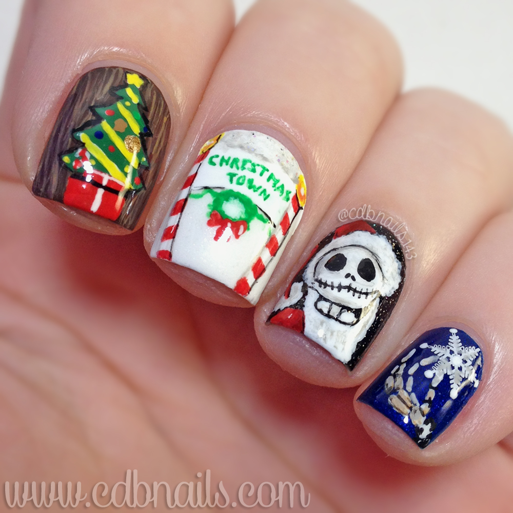 cdbnails: 12 Days of Christmas Nail Art | Nightmare Before Christmas