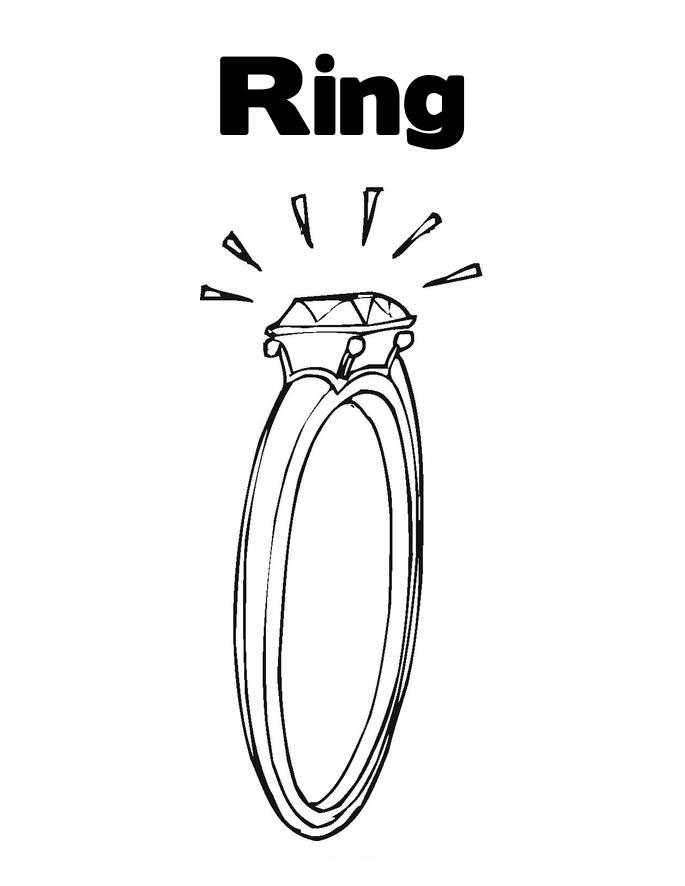 Diamond Ring Coloring Pages Ring Coloring Pages