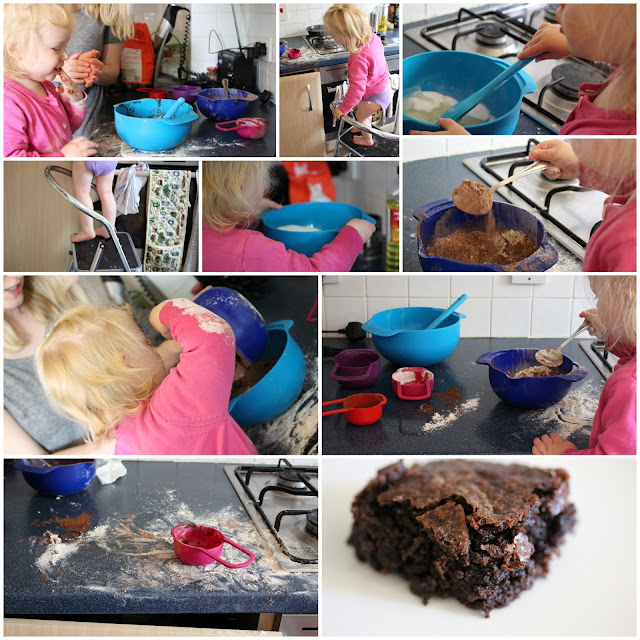 Baking Dairy Free Chocolate Brownies with a Toddler
